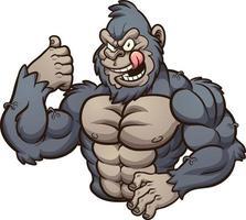 forte gorilla malvagio vettore