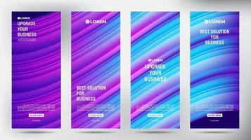 mesh colore flusso roll up brochure aziendale flyer banner design modello verticale, sfondo presentazione copertina, pubblicazione moderna x-banner e flag-banner, set di roll up banner stand modello