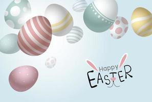 uova di Pasqua che cadono sfondo con copia spazio illustrazione vettoriale