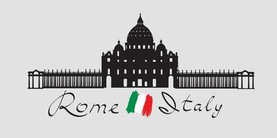 punto di riferimento di viaggio a roma, cattedrale di san pietro vettore