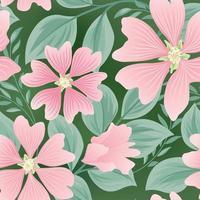modello estivo fiore senza soluzione di continuità. sfondo di piastrelle giardino floreale. vettore