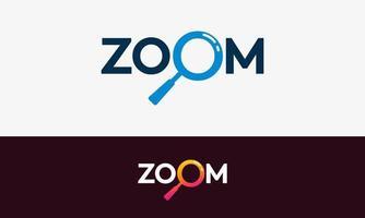semplice modello di zoom design vettore