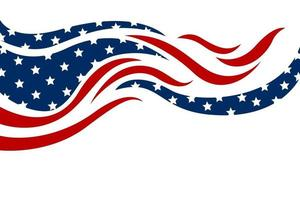 illustrazione vettoriale di sfondo bandiera usa astratta