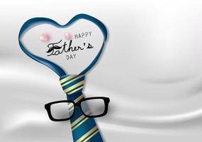 illustrazione vettoriale di felice festa del papà