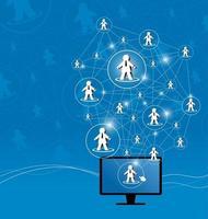 illustrazione vettoriale di social network design