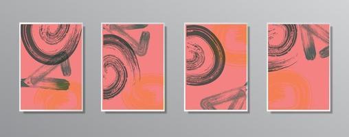 set di illustrazioni a colori neutri vintage disegnati a mano minimalisti creativi, per parete. per carta regalo, poster sul modello di poster da parete, landing page, ui, ux, coverbook, baner, vettore
