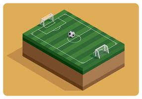 Campo da calcio isometrico vettore