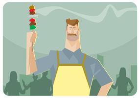 Vettore del partito di barbecue del cortile