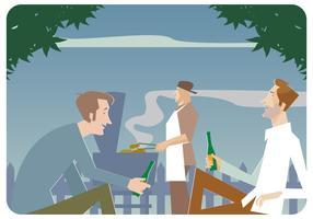 vettore partito barbecue