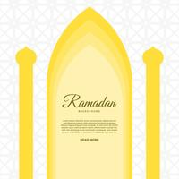 Ramadan piatto Vector Background