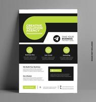 brochure flyer design layout template vettoriale. vettore