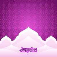 vettore del modello del fondo del ramadhan