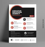 modello di layout design flyer in formato a4. vettore