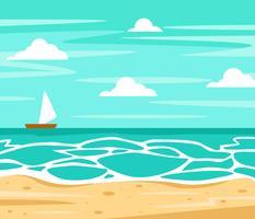vettore di sfondo spiaggia