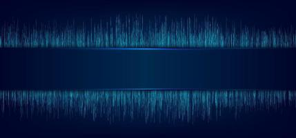 etichetta blu astratta e illuminazione laser con movimento di linee dinamiche. pattern di sfondo nel concetto futuristico di tecnologia. vettore