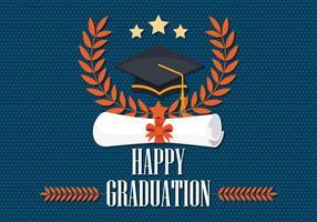 Vettore della carta di graduazione
