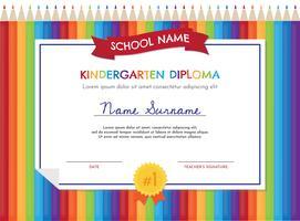 Modello di Diploma di scuola materna