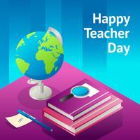 felice giorno di insegnante vettore
