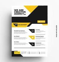 modello di layout design flyer. vettore