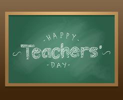 Vettore felice della lavagna di giorno degli insegnanti