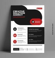 modello di business flyer aziendale. vettore
