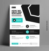 modello di business flyer aziendale vettore
