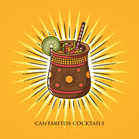 Illustrazione di cocktail di cantaritos