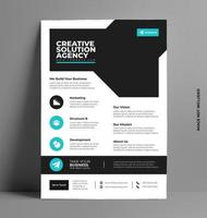 modello di layout design brochure flyer in formato a4. vettore