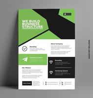 modello di volantino brochure aziendale aziendale. vettore