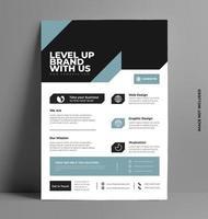 design elegante brochure aziendale flyer. vettore
