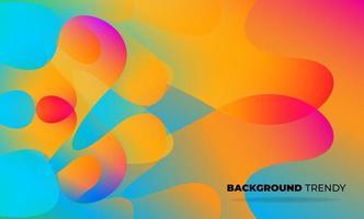 carta da parati geometrica creativa. composizione di forme sfumate di flusso fluido alla moda. sfondo della società di fornitura visiva per carta regalo, poster sul modello di poster da parete, landing page, ui, ux, coverbook, baner, vettore