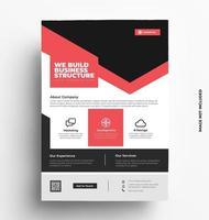 modello di volantino brochure vettoriale in formato a4