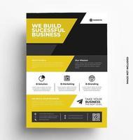modello di layout di progettazione brochure flyer vettoriale in formato a4