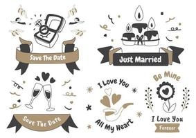 etichetta logo vettoriale di San Valentino per banner