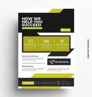 design moderno volantino brochure aziendale. vettore