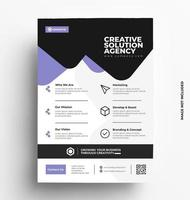 brochure flyer design. vettore
