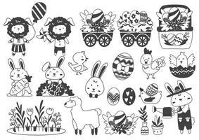 illustrazione vettoriale di Pasqua per banner