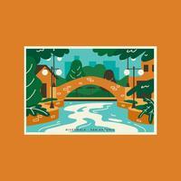 cartolina di San Antonio Riverwalk vettore
