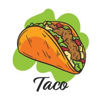 Taco, menu di cibo messicano