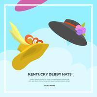 Illustrazione piana di vettore del cappello di derby del Kentucky