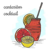 Vettore di cocktail di cantaritos