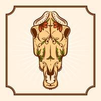 Giorno disegnato a mano dell'illustrazione di vettore del cavallo morto