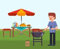 Vettore del BBQ del cortile