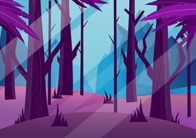 illustrazione vettoriale formidabile foresta