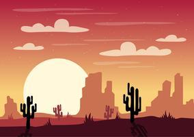 illustrazione di paesaggio del deserto di vettore