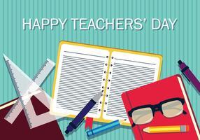 illstration di giorno di vettore degli insegnanti