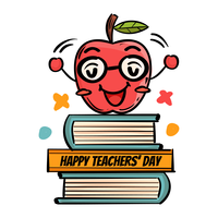 Apple Greeting Teacher's Day vettore
