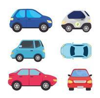raccolta di auto elettriche vettore
