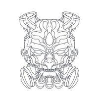 illustrazione disegnata a mano di vettore del mostro del diavolo
