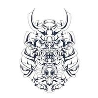 mecha japan ronin inchiostrazione illustrazione grafica vettore